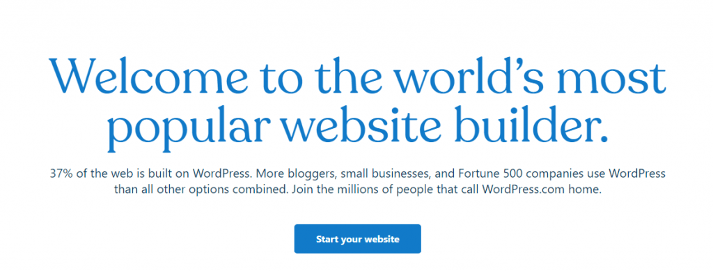 WordPress best blogging platform